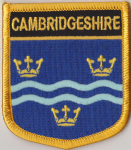 Cambridgeshire Embroidered Flag Patch, style 07